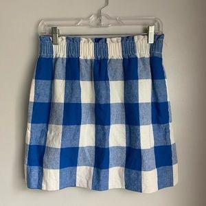 J.Crew Factory Checkered Skirt